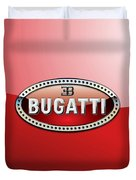 Bugatti - 3 D Badge On Red Duvet Cover