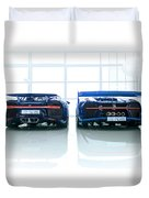 Bugatti Chiron And Vision Gt Duvet Cover