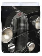 Bugatti Type 57 In Black Duvet Cover