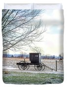 Buggy Alone In Winter Duvet Cover