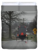 Buggy Approaching A Curve In The Road Duvet Cover