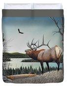 Bugling Elk Duvet Cover