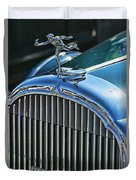 Buick Grill And Hood Ornament Duvet Cover