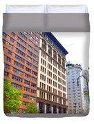 Building Closeup In Manhattan 5 Duvet Cover