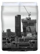 Building In Construction Duvet Cover