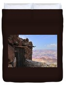 Building On The Grand Canyon Ridge Duvet Cover