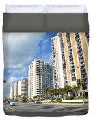 Buildings In Florida Duvet Cover