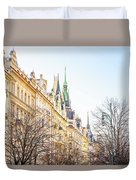 Buildings In Prague Duvet Cover