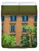 Buildings Opposite The Vatican Museum Duvet Cover