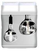 Bulbs - Black And White Duvet Cover