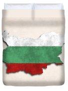 Bulgaria Map Art With Flag Design Duvet Cover