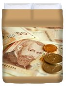 Bulgarian Money Duvet Cover