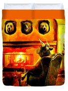 Bull At Night Duvet Cover