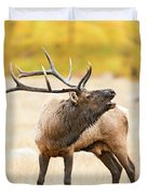 Bull Elk Bugling In The Fall Duvet Cover