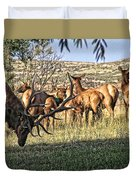 Bull Elk In Point Duvet Cover