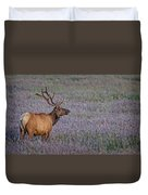 Bull Elk In Velvet Duvet Cover