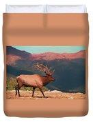 Bull Elk On Trail Ridge Road Duvet Cover