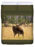 Bull Elk Sideview Duvet Cover