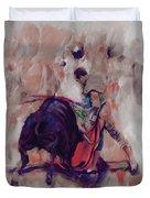 Bull Fight 009k Duvet Cover