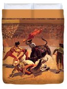 Bull Fight In Mexico 1889 Duvet Cover