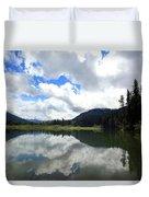 Bull Lake Cloud Reflection Duvet Cover