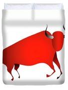 Bull Looks Like Cave Painting Duvet Cover by Michal Boubin