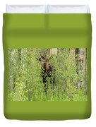 Bull Moose Guards The Aspen Duvet Cover