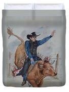 Bull Rider Duvet Cover