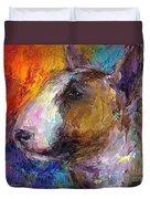 Bull Terrier Dog Painting Duvet Cover by Svetlana Novikova