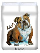 Bulldog Pop Art Duvet Cover