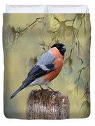 Bullfinch Bird Duvet Cover