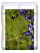 Bumble Bee And Milk-vetch Duvet Cover