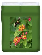 Bumble Bee In Flight Duvet Cover
