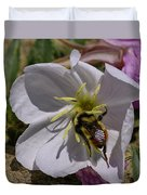 Bumble Bee On Wild Primrose 1 Duvet Cover