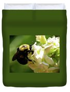 Bumble Bee Duvet Cover by Valeria Donaldson