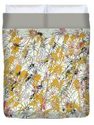 Bumble Bees Against The Windshield - V1sd92 Duvet Cover