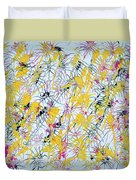 Bumble Bees Against The Windshield - V1vc100 Duvet Cover