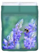 Bumblebee And Lupine Duvet Cover