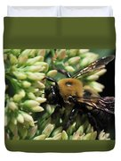 Bumblebee In The Land Of Petals Duvet Cover