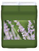 Bumblebee On The Lavender Field 2 Duvet Cover