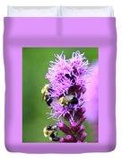 Bumblebees On Liatris Duvet Cover