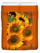 Bunch Of Sunflowers Duvet Cover