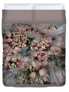 Bundles Of Pink Roses Are Gathered Duvet Cover