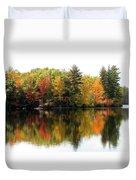 Bunganut Lake Maine Foliage 10 2016 Duvet Cover