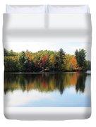 Bunganut Lake Maine Foliage 11 2016 Duvet Cover