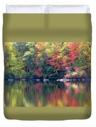 Bunganut Lake Maine Foliage 13 2016 Duvet Cover
