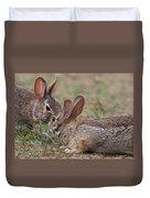 Bunny Encounter Duvet Cover