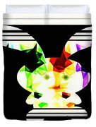 Bunny In Abstract Duvet Cover