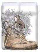 Bunny In Boot Duvet Cover