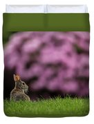 Bunny In The Yard Duvet Cover
